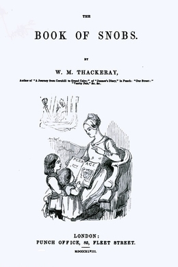 The Book of Snobs by W. M. Thackeray